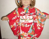 Very detailed Kimono for  a doll (suitable for  American Girl.)