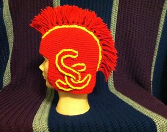 USC Trojan Helmet beanie - custom cap hat - college football