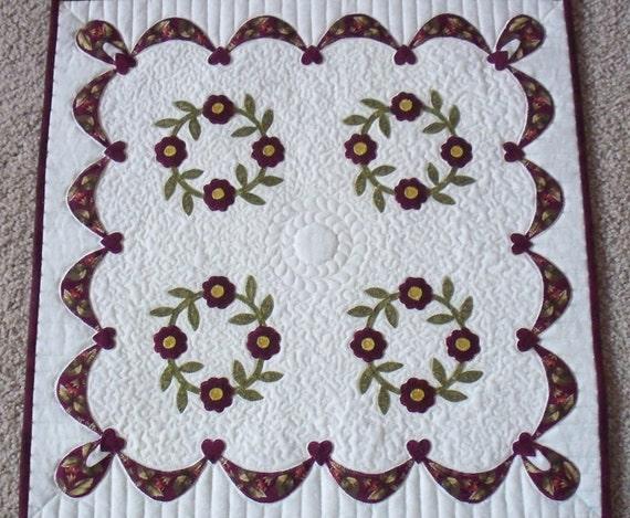 Miniature quilt pattern WREATHS