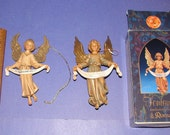 Italian Depose Angels, One Fontanini with Box and one Marked Italy Only