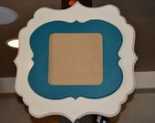 Double-Stacked 8x10 or 10x10 Opening Whimsical Painted Picture Frame (you choose size)