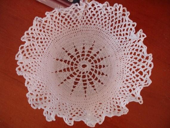 Elegant White Doily Bowl