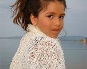 Handmade bolero, sleeves, shrug,ivory,for girls