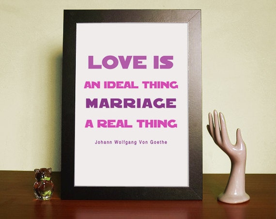 Marriage a real thing Philosophy Quotes by MadeByBride on Etsy