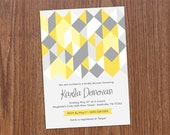 Geometric Bridal Shower Invitation : custom, printable 5X7 digital file