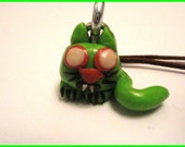 Zombie Kitten charm for your mobile phone, key ring or zipper pull.