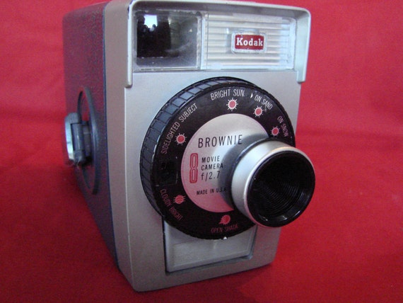 Vintage Kodak Brownie movie camera 8mm  Reserved for Michelle