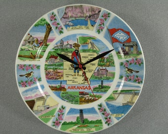 ARKANSAS Souvenir Plate  Wall Clock, Geekery, Clocks by DanO