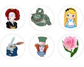 Alice's Adventures in Wonderland Toppers ETSY circles party  you own print