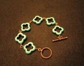Turquoise quatrefoil MANSFIELD bracelet