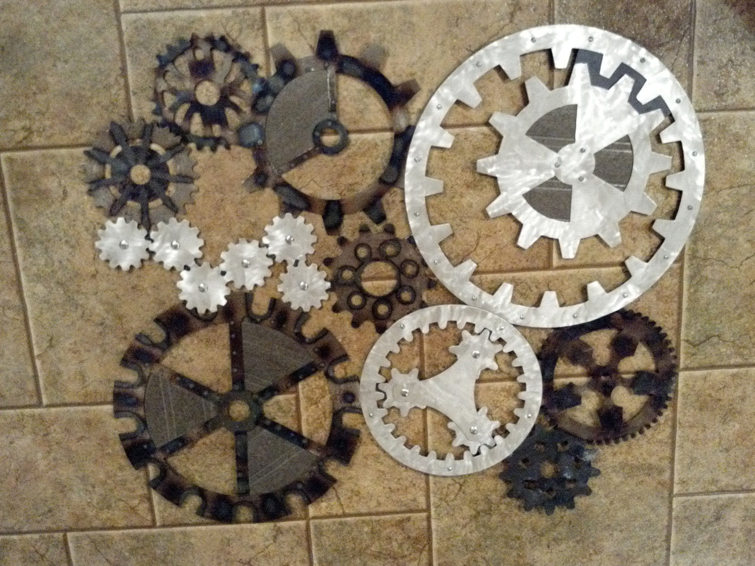 Industrial Wall Decor Ideas : Gears art industrial steampunk wall decor made to order