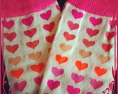 Baby Legs / Leggings / Leg Warmers / Arm Warmers - Hot Pink Hearts