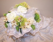 White Rose Bouquet with green accent