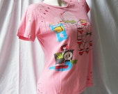 Fair Day - Designer Style Cut Tshirt - upcycled - Free Shipping to U.S. and Canada