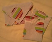 Cloth Baggies & Sandwich Wrap - Eco friendly baggies w/top being made of re-claimed material