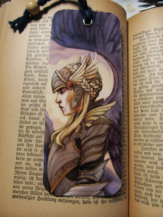 Bookmark Valkyrie Fantasy Mythology Art  by Leanna TenEycke