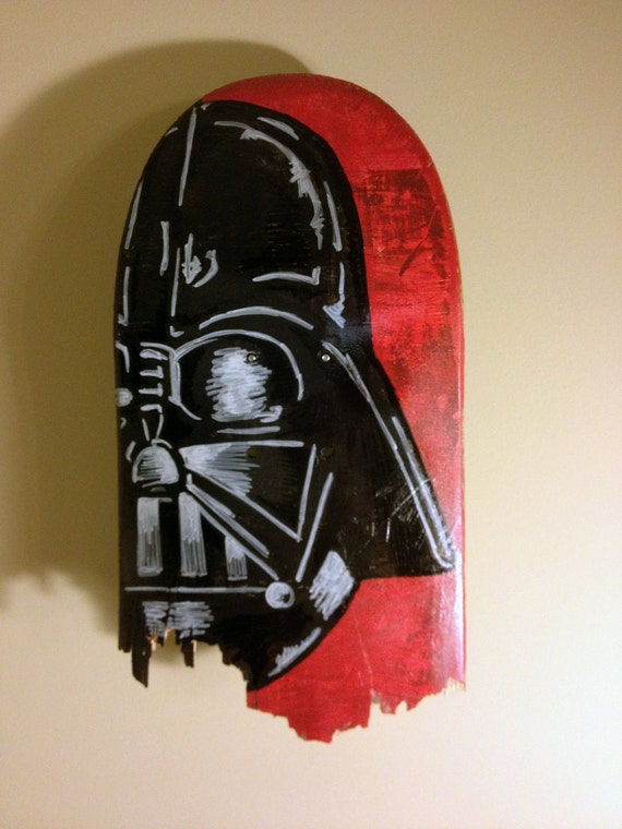 Sale Original Darth Vader Painting On Skateboard Star Wars