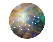 Virgo 8x10 Print - Astrology, Cosmic, Space, Galaxy, Stars, Sign, Zodiac