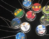 lego ninjago lot of 10 ball chain necklace party favors