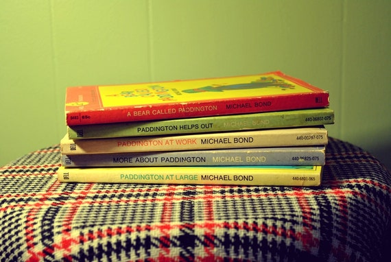 SALE Lot of Five Paddington Bear Paperback Books