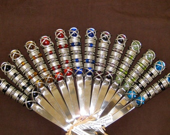 wired and beaded salad servers