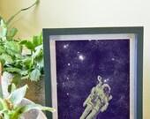 8x10 Inch Space Man Art Print