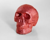 Glitter Skull Ornament
