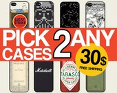 PICK 2 cases - FREE SHIPPING - Iphone 4 Case, Iphone case, Iphone 4s Case, Iphone 4 Cover, Hard iphone 4 Case