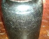 Very Old Vintage Black Glazed Pottery Pot/Vase