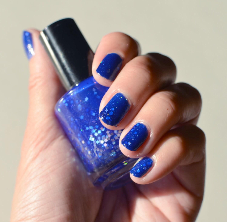 Nail Polish: Fantasia Bright Blue Jelly Polish With Glitters