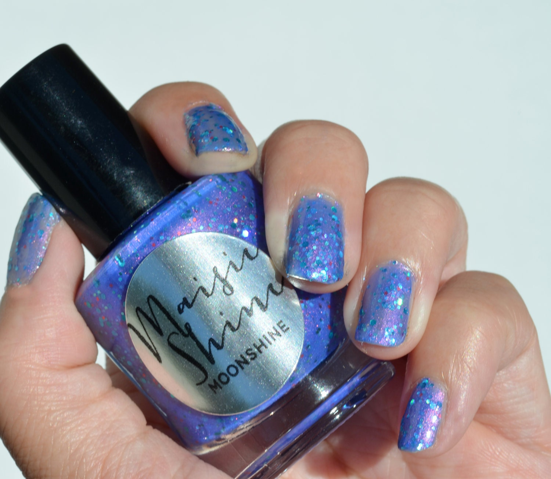 Blue Nail Polish Names: Nail Polish: Moonshine Purple Blue Polish With Teal And Red