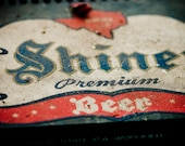 Shiner beer logo - decorative photography print - wall art - home decor - texas beer photo - multiple sizes available