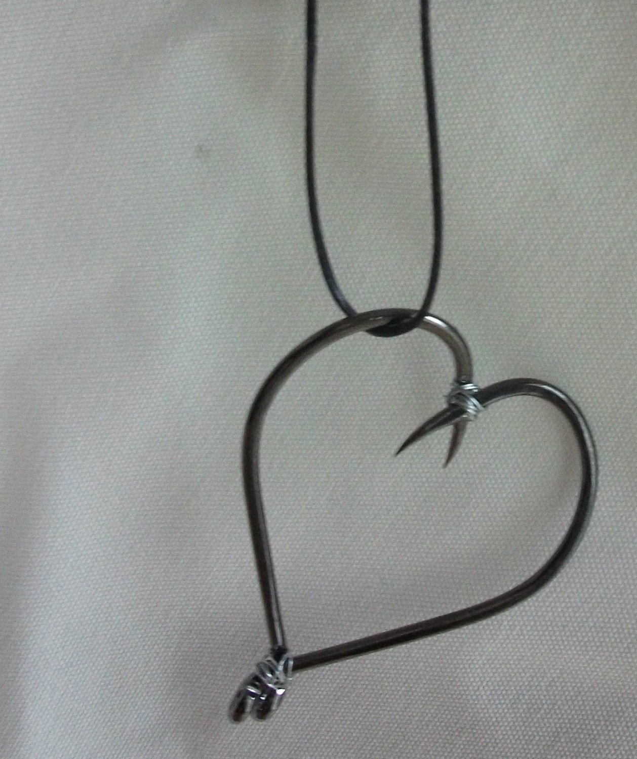 Fish hook heart for Fish hook necklace