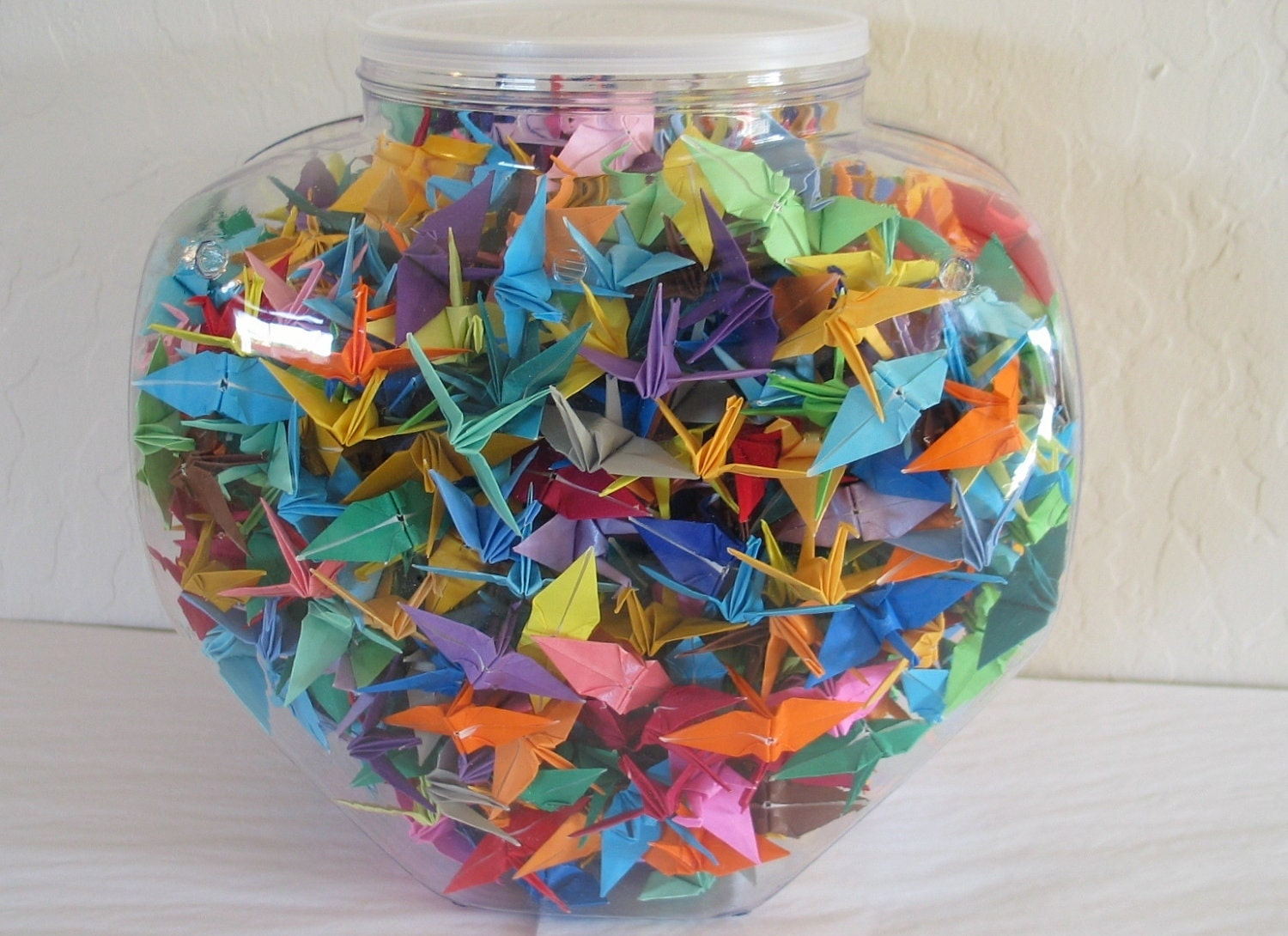 One thousand 1000 hand made 2 origami paper cranes by for 1000 paper cranes wedding decoration