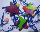 Star shaped crayons, birthday present for child, art supply supplies, recycled, children's gift, summer fun, kids accessories.