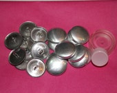 100 x  23mm (Size 36) Metal Self Cover Buttons (INCLUDES TOOL)  Flat back or Shank/Wire backs, DIY cover button - Australia