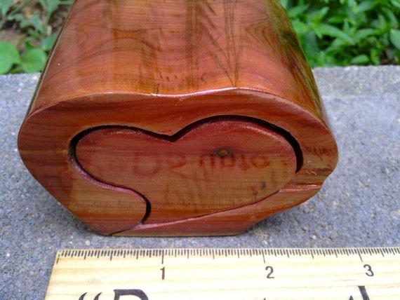 Tooth fairy natural cedar heart box