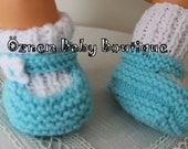 Two - Colored Baby Booties Ready to ship. 0 to 3 months.