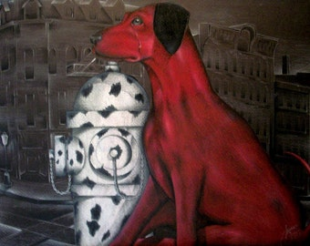 18 x 24 Dalmation Prismacolor drawing- art print- dog art- FREE SHIPPING