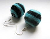 Felted Earrings, Very unique style