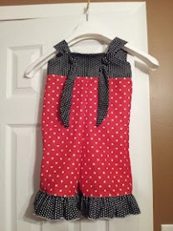 Minnie Mouse Knot Overalls