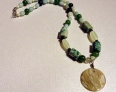 Earthy jade and bloodstone necklace