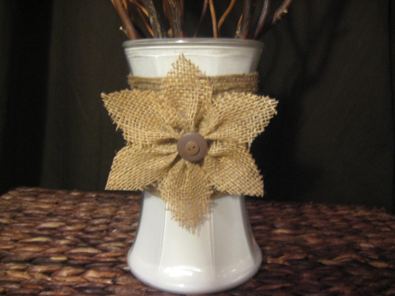 Burlap flower decorative vase - Decorative flower vase ...