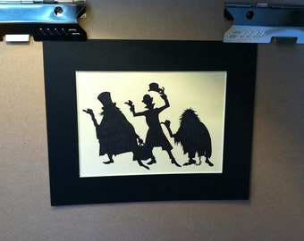 Disney Haunted Mansion Hitchhiking Ghosts Silhouette