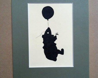 Disney Winnie The Pooh And Honey Bee Silhouette
