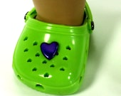 Hand Embellished Lime Green Clogs fit 18 in Doll American Girl Doll