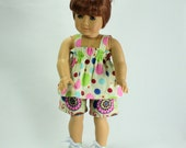 American Girl Doll Clothes - Shorts and Halter Set - 2 PC