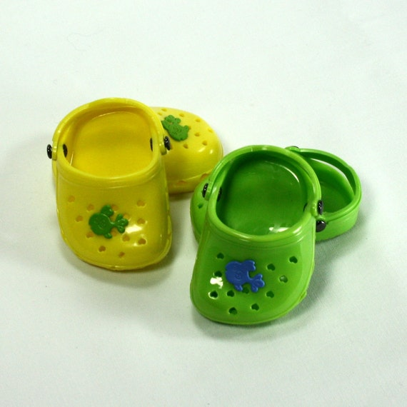 18 Doll - American Girl Doll Shoes - Hand Embellished Clogs