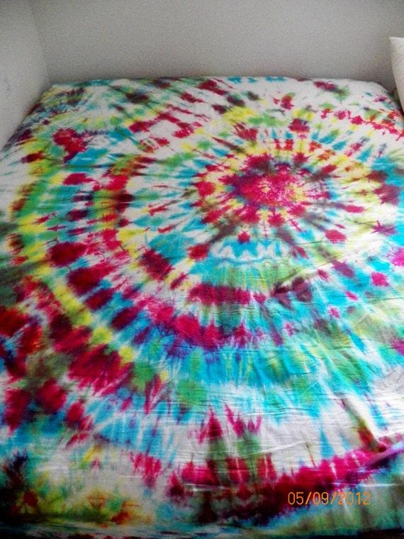 items similar to tie dye bedding on etsy
