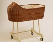 Wicker Baby Bassinet / Baby Crib Fragilis - Brown